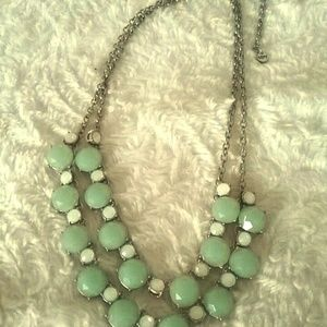 Green and White Necklace from Loft